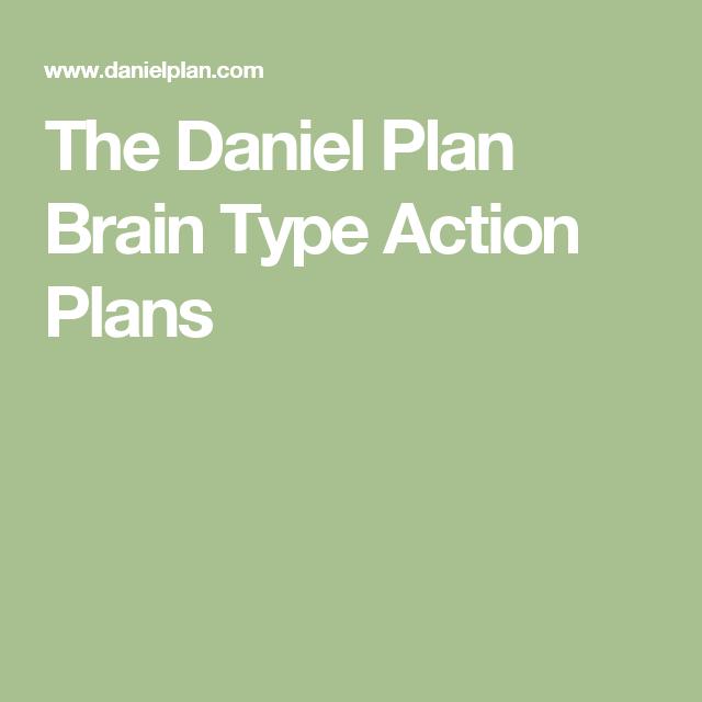 The Daniel Plan Brain Type Action Plans  AspergersAutism