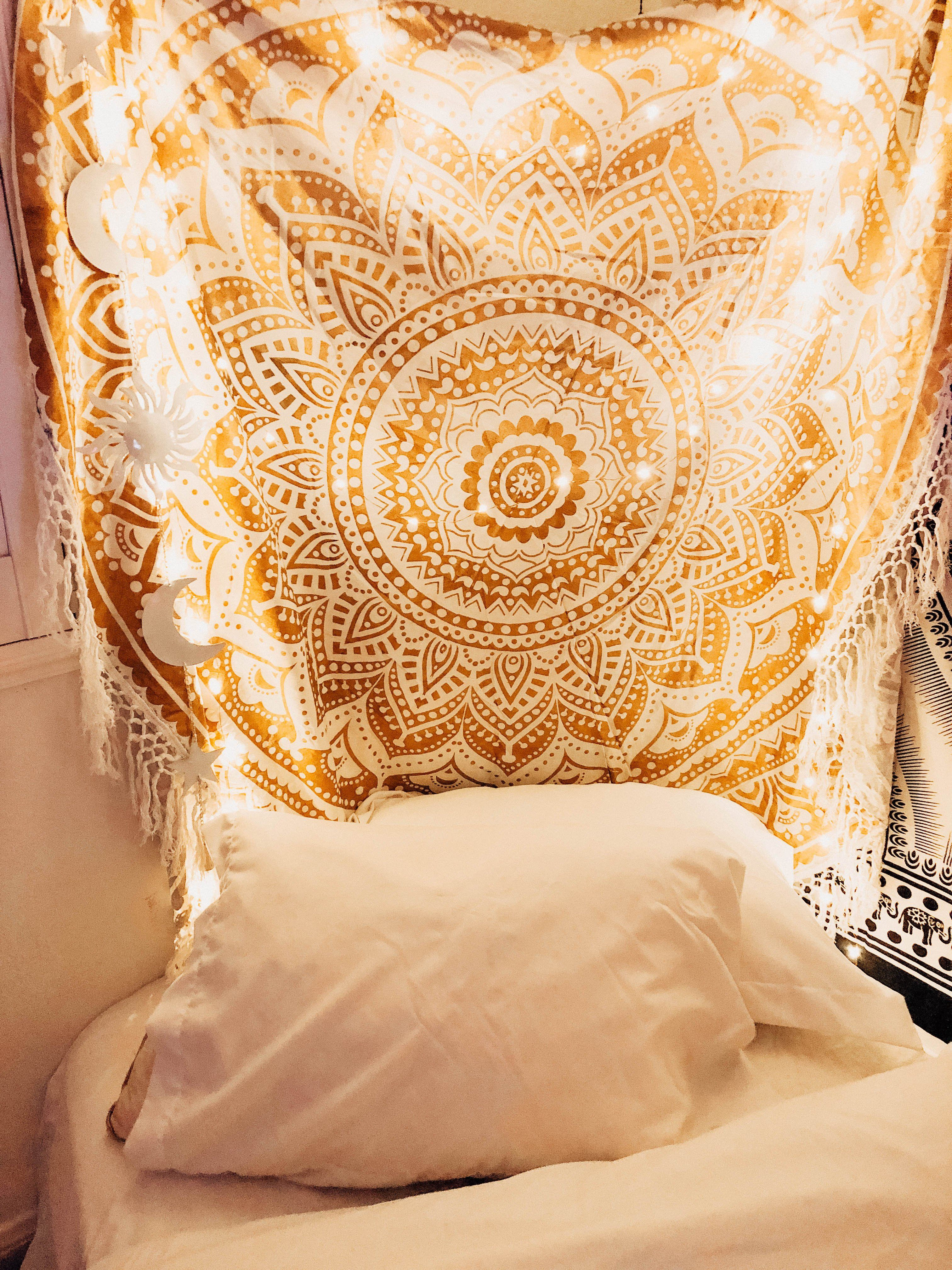 Gold gypsy goddess mandala tapestry mandala tapestry tapestry and