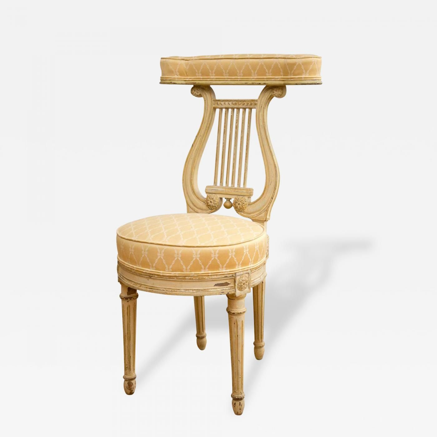 Lyre Back Voyeuse Chair In The Manner Of Georges Jacob Avec Images