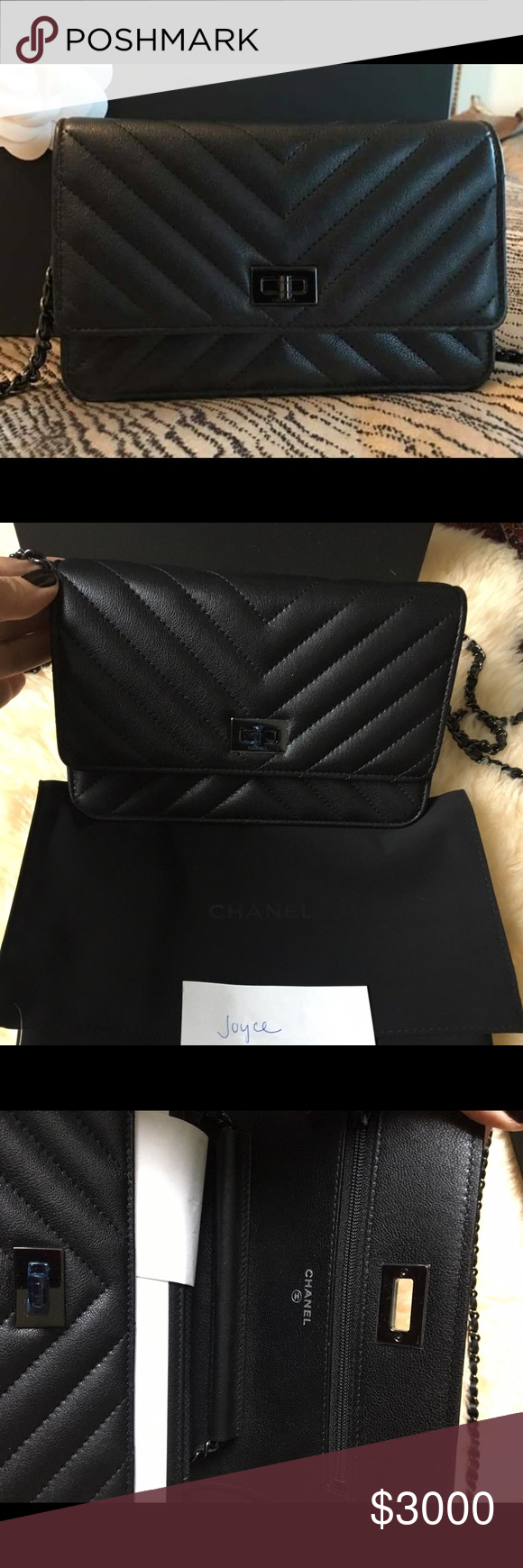 aa0641ba004f SOLD!!! NWT SO BLACK CHANEL 2.55 REISSUE WOC BNWT never used Chanel ...