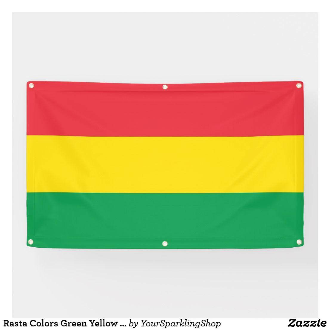 Rasta Colors Green Yellow Red Stripes Flag Pattern Banner Zazzle Com Rasta Colors Red Stripes Red Green Yellow