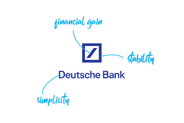 The Deutsche Bank S Slash In The Logo Stands For Consistent Growth And The Square For Stability Logodesign Graphicdesign Banks Logo Bank Branding Branding