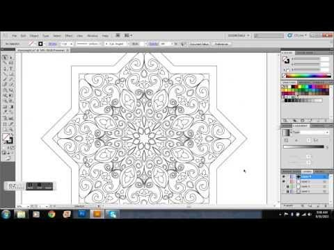 Star Shaped Islamic Pattern - Time Lapse - YouTube