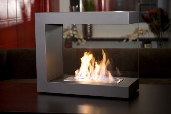 Glass Enclosed Gas Fireplace | Space planning final | Pinterest ...