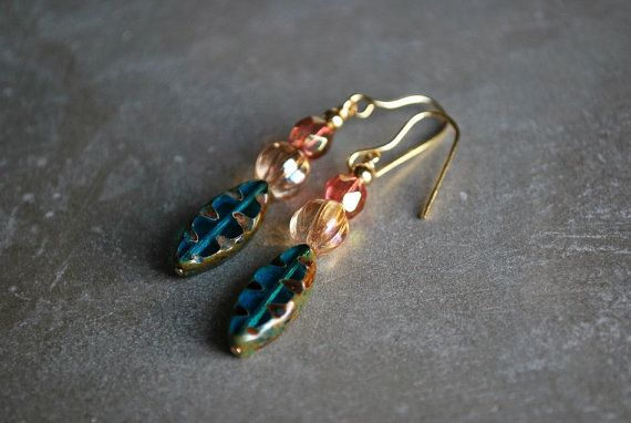 Picasso Glass Earrings by letemendia on Etsy, $19.00