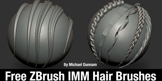Free ZBrush IMM Hair Brushes By Michael Dunnam Michael