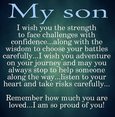 10 Best Mother And Son Quotes | my son | Love my son quotes, Son