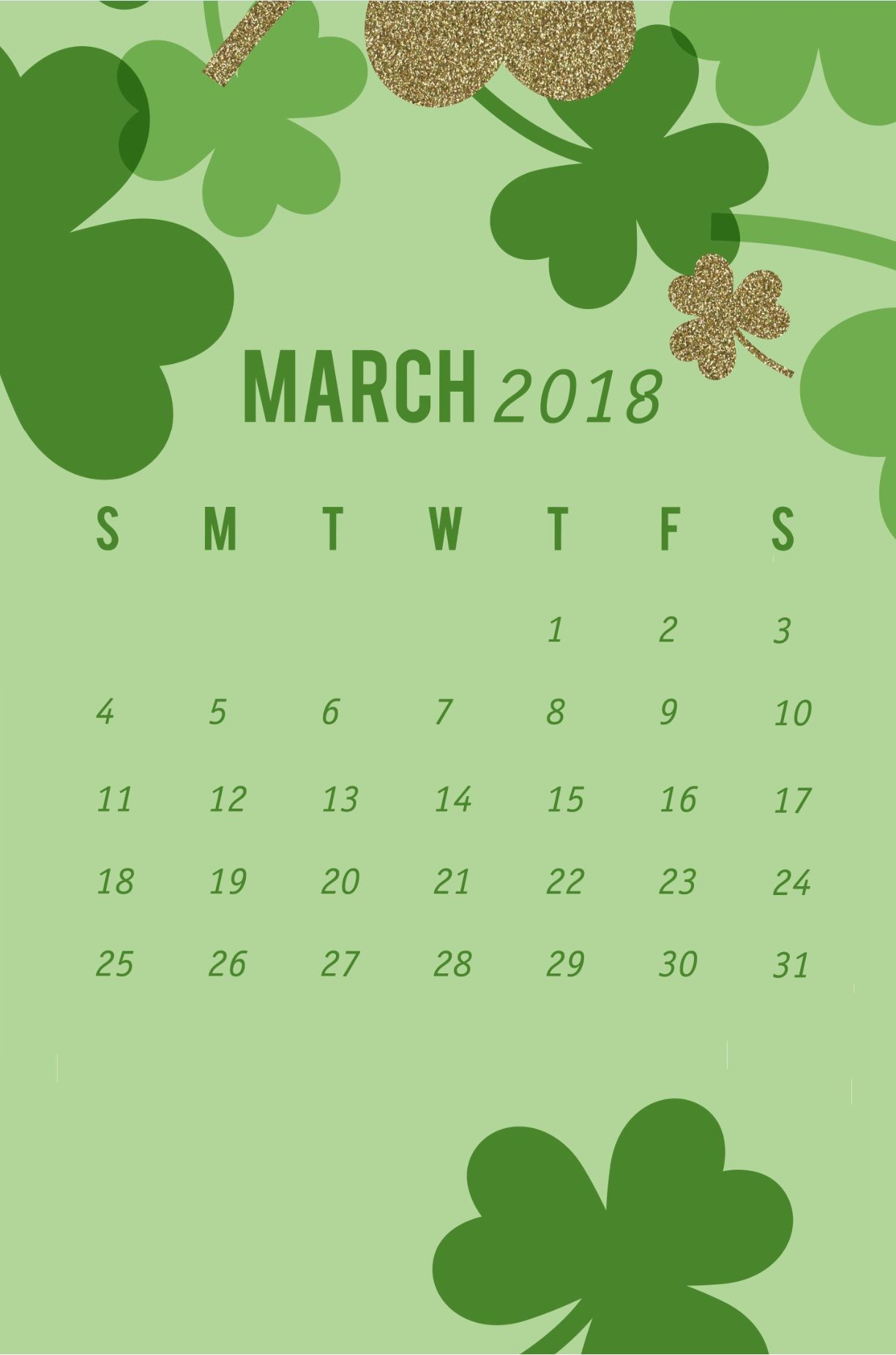 March 2018 Wallpaper Calendar Iphone Calendar Designs