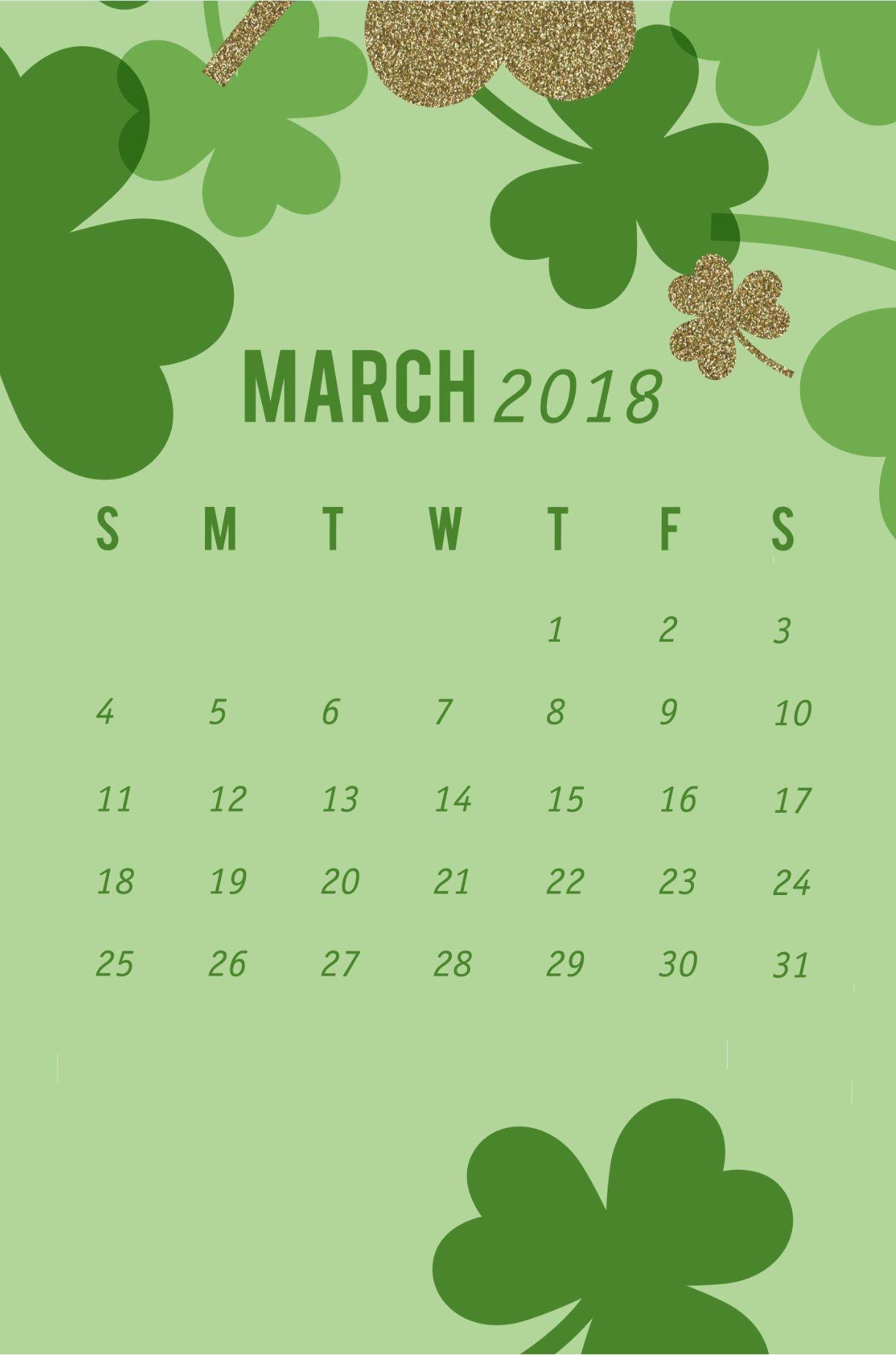 March 2018 Wallpaper Calendar iPhone | Calendar Designs | Calendar wallpaper, Iphone wallpaper ...