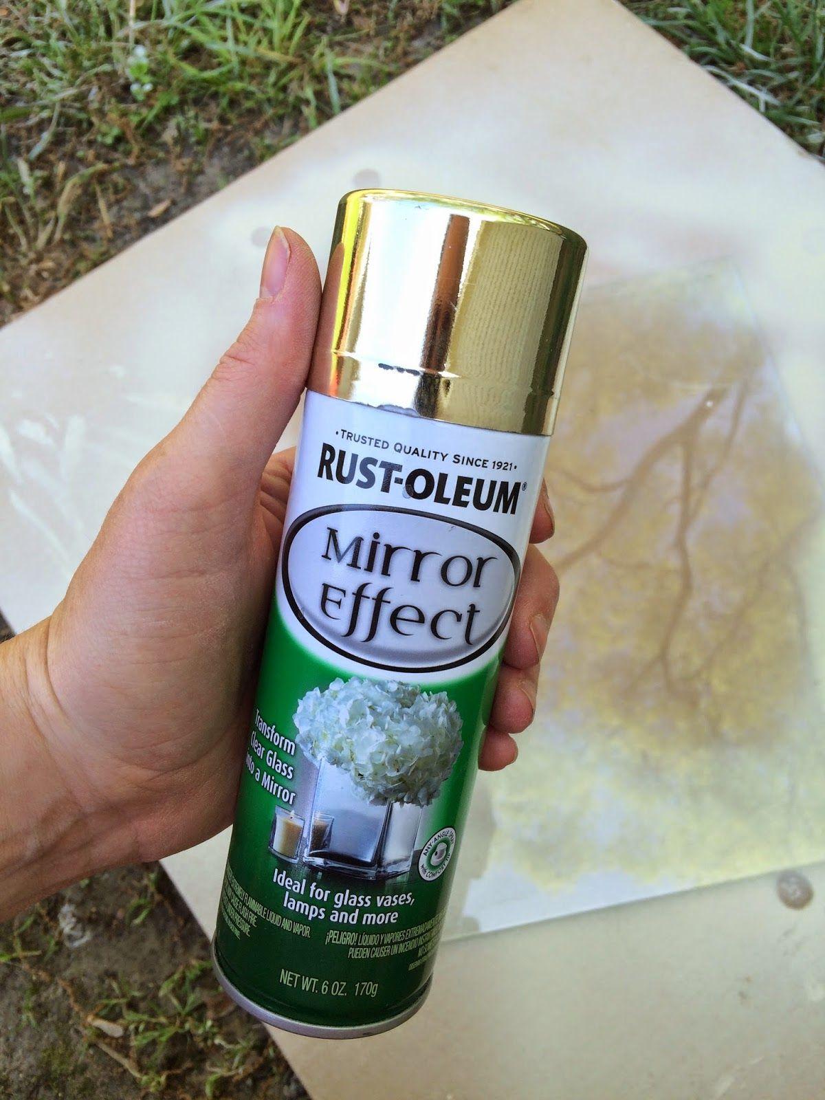 Diy Mirror Effect Spray Paint Travaux Manuels Ete Travaux Manuels Diy