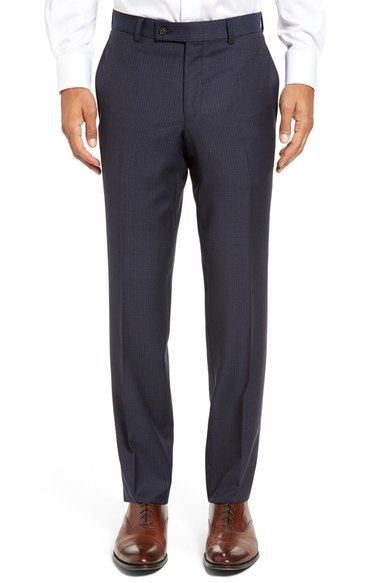 TED BAKER Jefferson Flat Front Check Wool Trousers. #tedbaker #cloth #