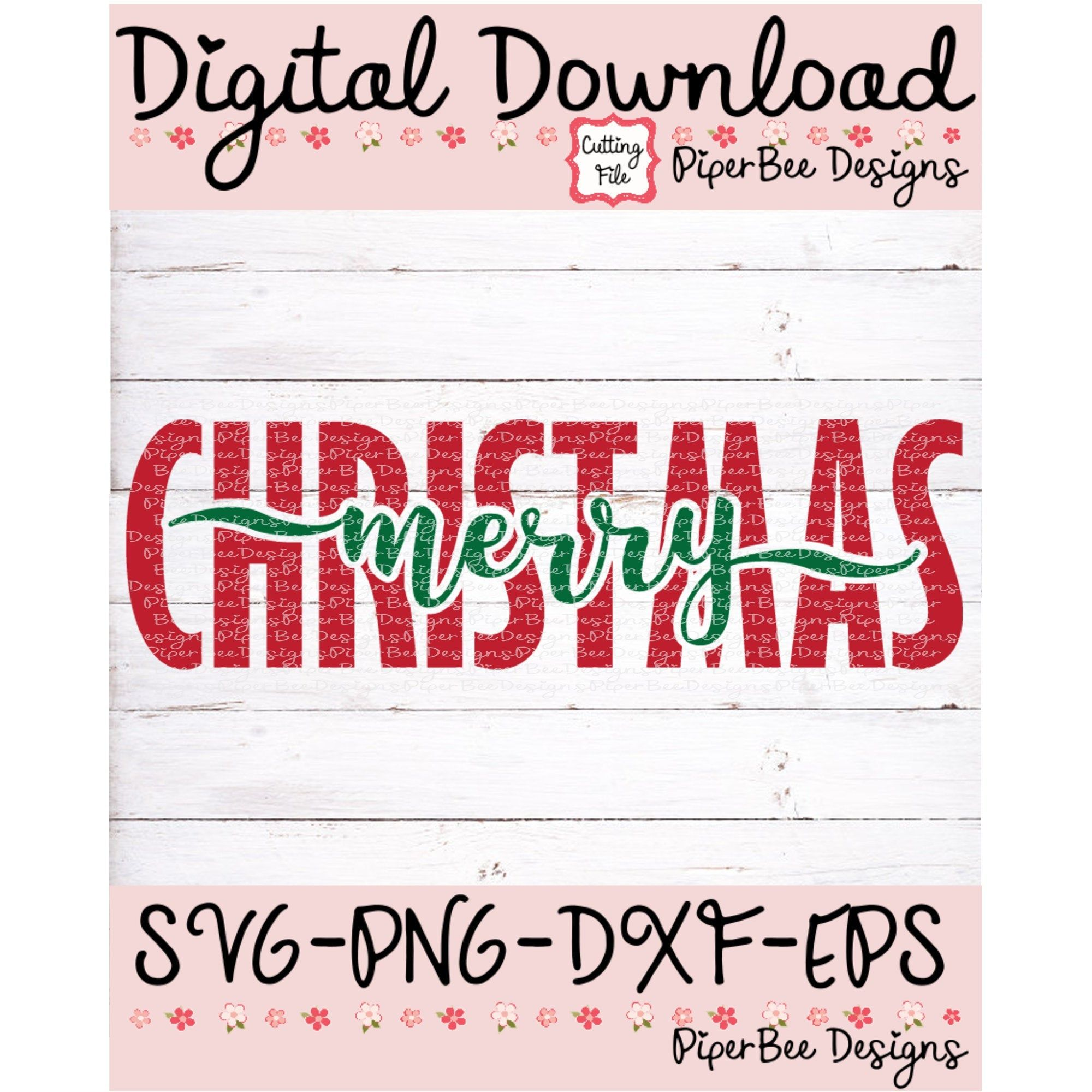 Merry Christmas SVG, Christmas SVG, Holiday Sign SVG