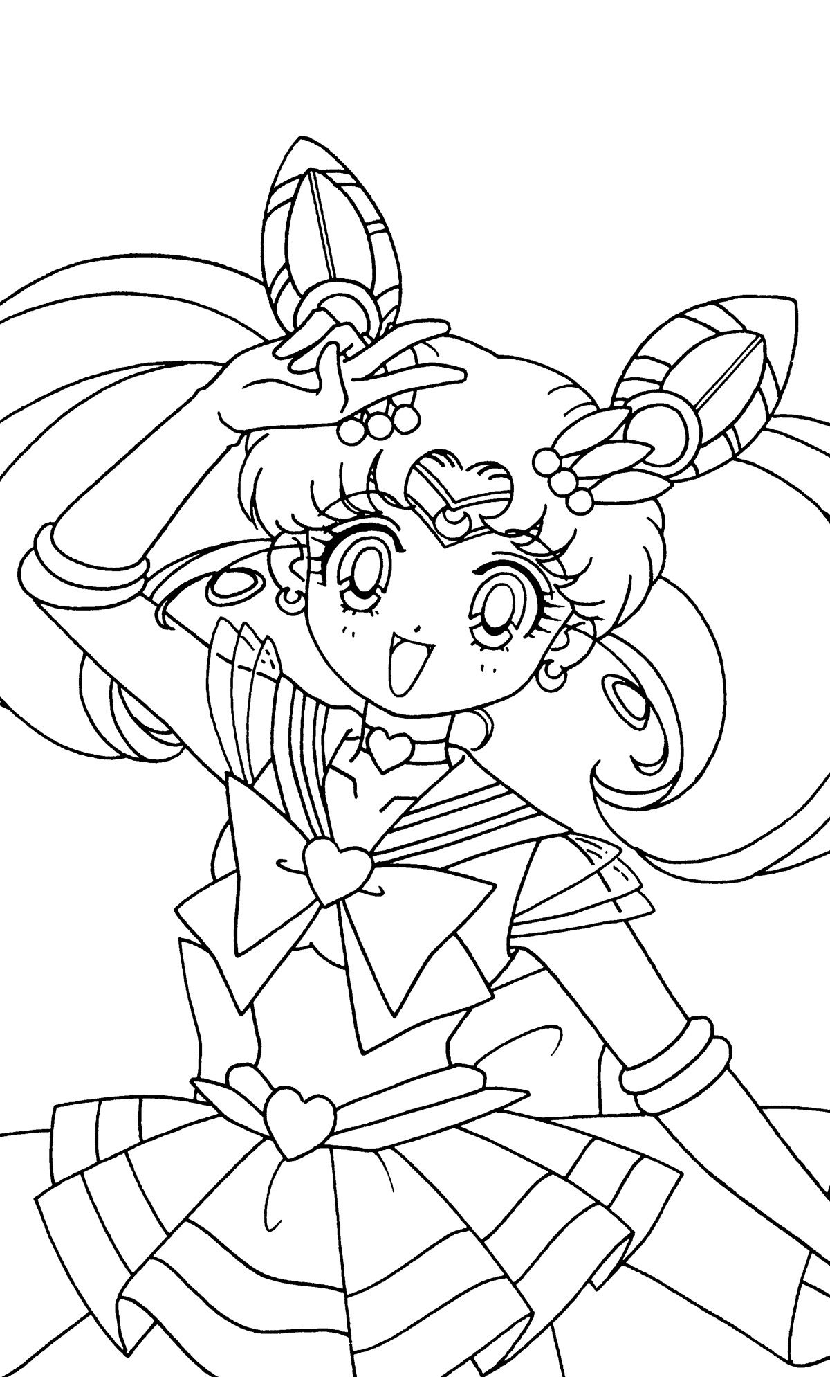 chibi moon coloring pages - photo#27