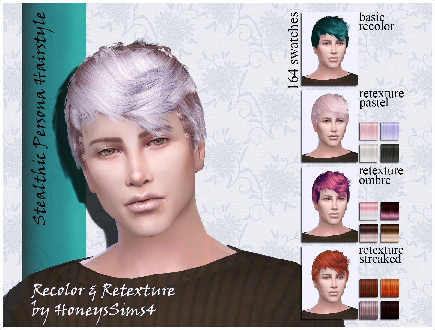 Sims 4 Male Hair Recolor Retexture By Honeyssims4 Mesh By Stealthic Sims4 Sims4hair Ts4cc Ts4hair S4hair Honeyssims T Manner Frisuren The Sims Pop Musik