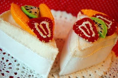 Felt pavlova with strawberries, kiwi and mango from Wombat's Picnic