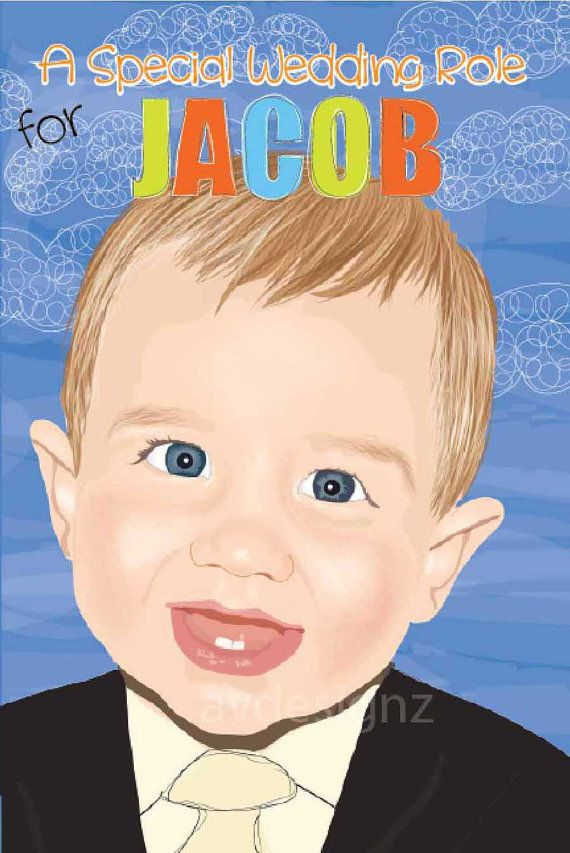 Ringbearer Book Personalized Ringbearer Book junior groomsman gift