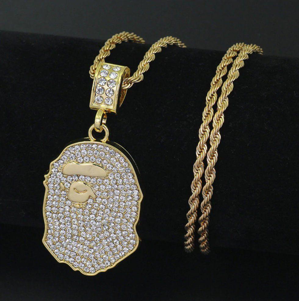 A BATHING APE BAPE Gold necklace