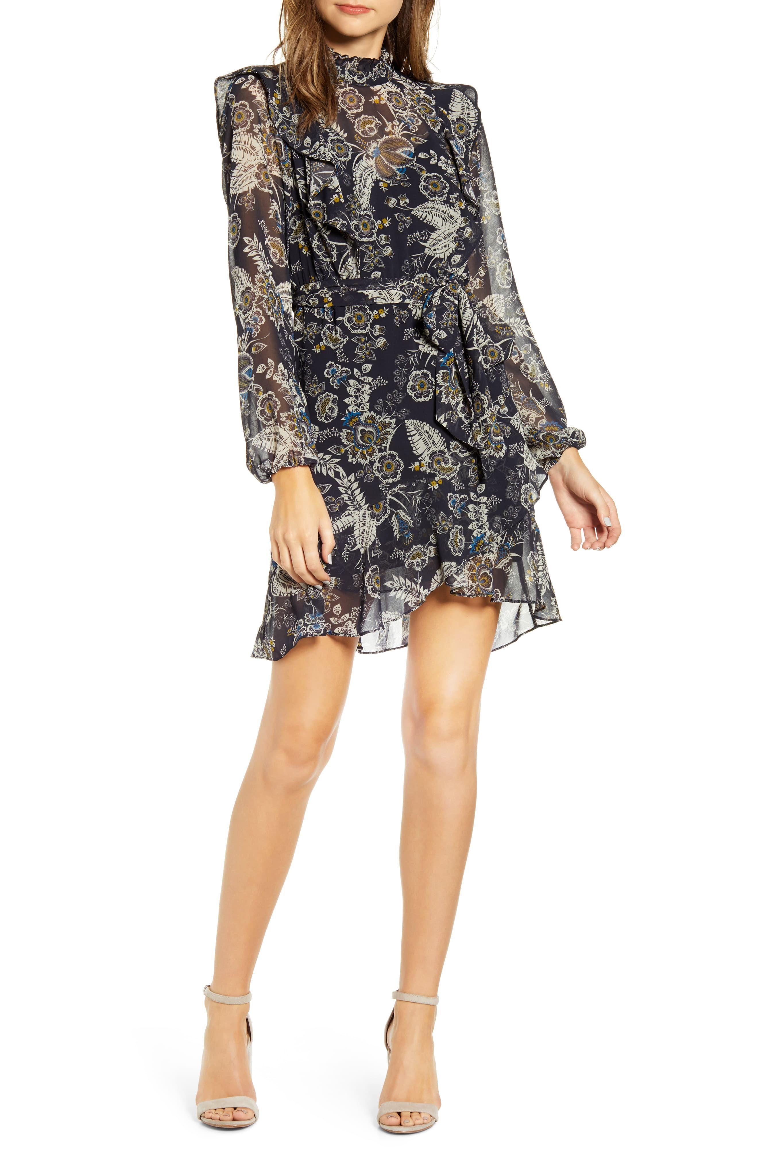 Bailey 44 Viola Floral Ruffle Long Sleeve Chiffon Minidress Available At Nordstrom Chiffon Long Sleeve Mini Dress Fashion Clothes Women [ 4048 x 2640 Pixel ]