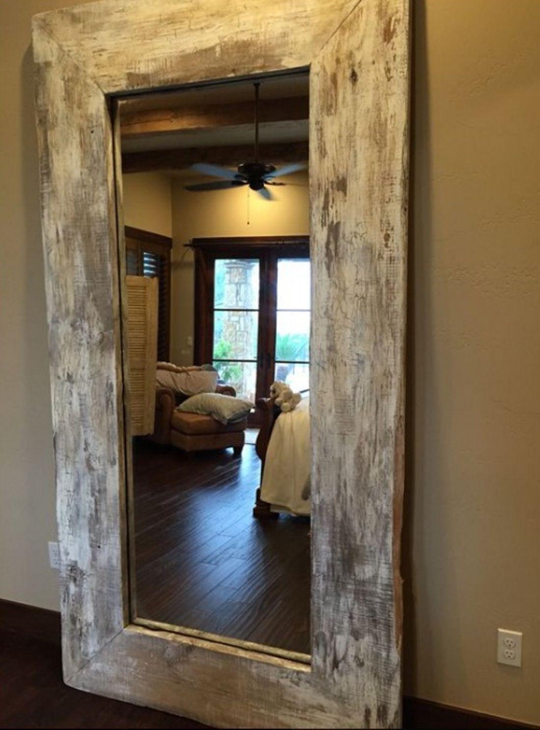 Gorgeous Ideas To Make Large Handmade Full Length Rustic Reclaimed Wood Floor Mirror My Home Decor G Handmade Home Decor Rustic Floor Mirrors Rustic Flooring