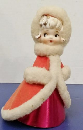Vintage-Girl-Christmas-Decorations-Seasonal-Holiday-1950-039-s-Japan-HOLT-Howard-HH