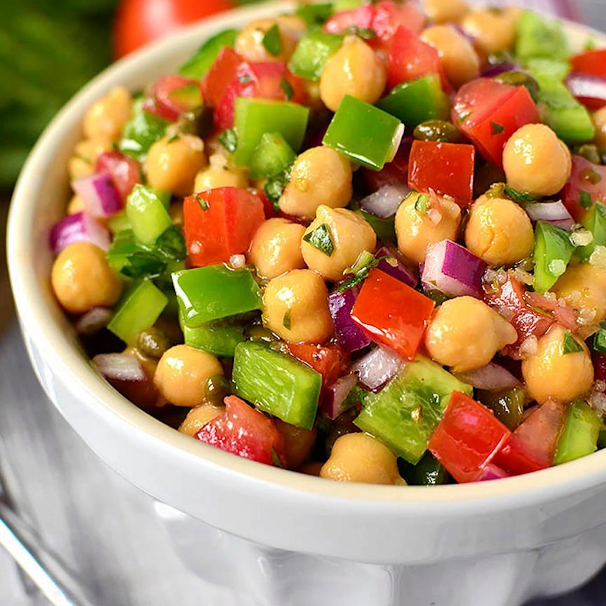 Italian Chickpea Salad - Iowa Girl Eats
