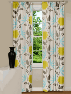 Grey Yellow And Light Teal Curtains These Would Be Perfect In