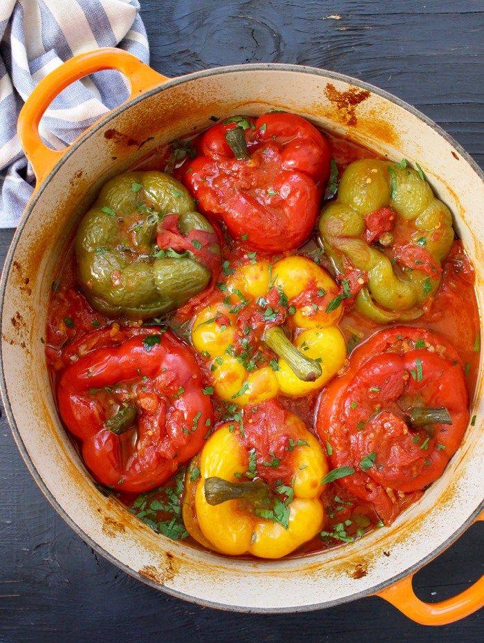 Best Vegetarian Stuffed Peppers Recipe Ciaoflorentina Recipe Peppers Recipes Stuffed Peppers Best Stuffed Pepper Recipe