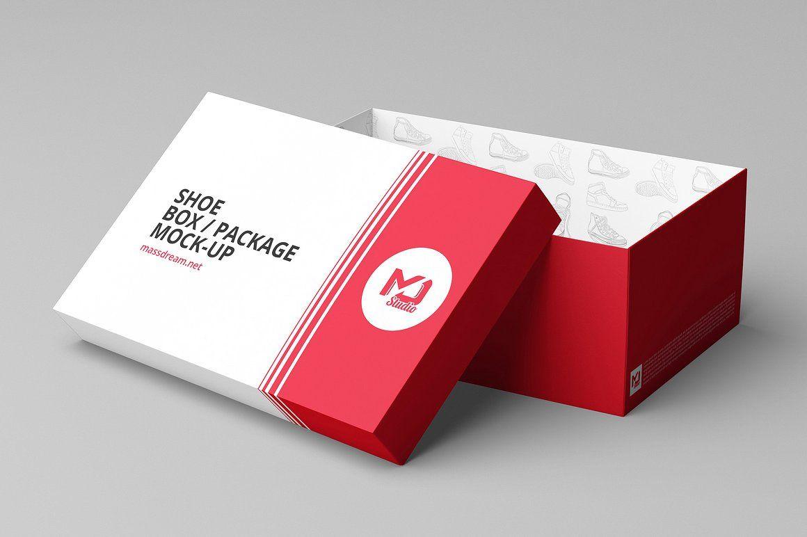 Download Shoe Box Package Mock Up Shoe Box Shoe Box Design Box Packaging