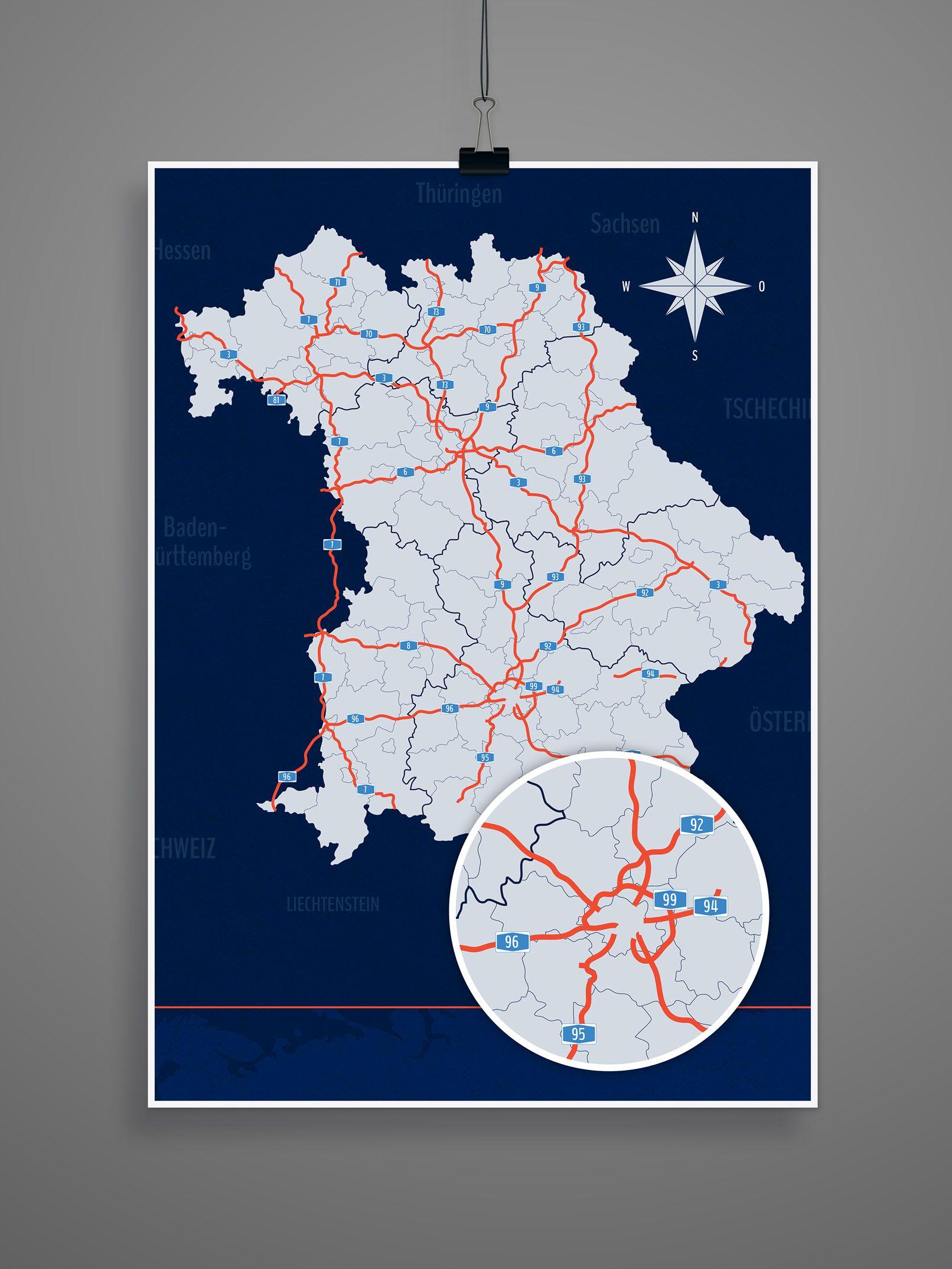 Landkarte Bayern Mit Landkreisen Landkarte Bayern Landkarte Und