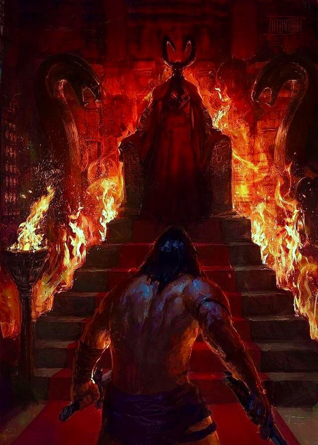 Conan the Barbarian Vs Thulsa Doom Fantasy artwork