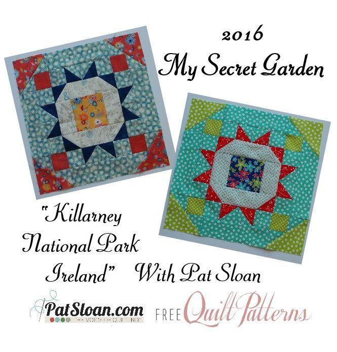 Pat Sloan My Secret Garden Free Mystery Block 2 Mug