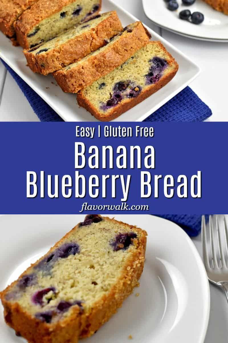 Gluten Free Banana Blueberry Bread In 2020 Blueberry Banana Bread Gluten Free Quick Bread Recipes Gluten Free Recipes Bread