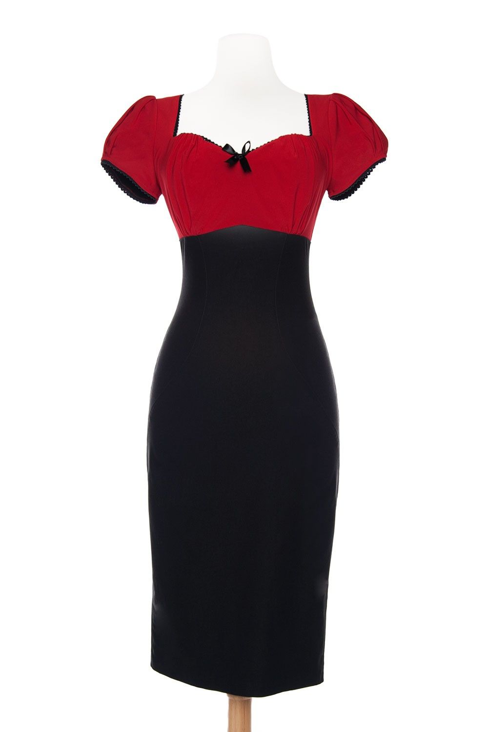 Final sale pinup couture mary ann dress in red pinup girl