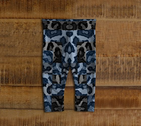 Blue Cheetah Print Baby Toddler Leggings