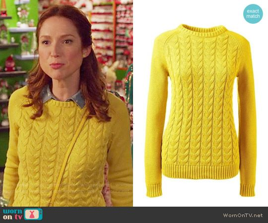 Kimmy's yellow cable knit sweater on Unbreakable Kimmy Schmidt ...