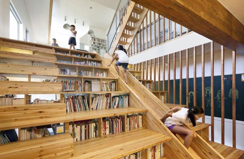 Un escalier en bois multifonctionnel dans un intérieur original ...