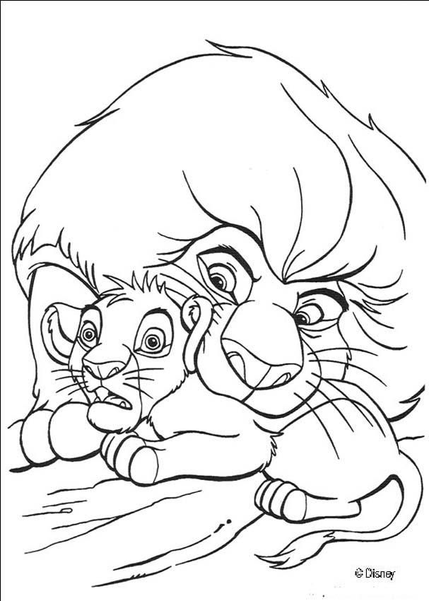 Mufasa Protects Simba coloring page | Coloring pages - Disney ...