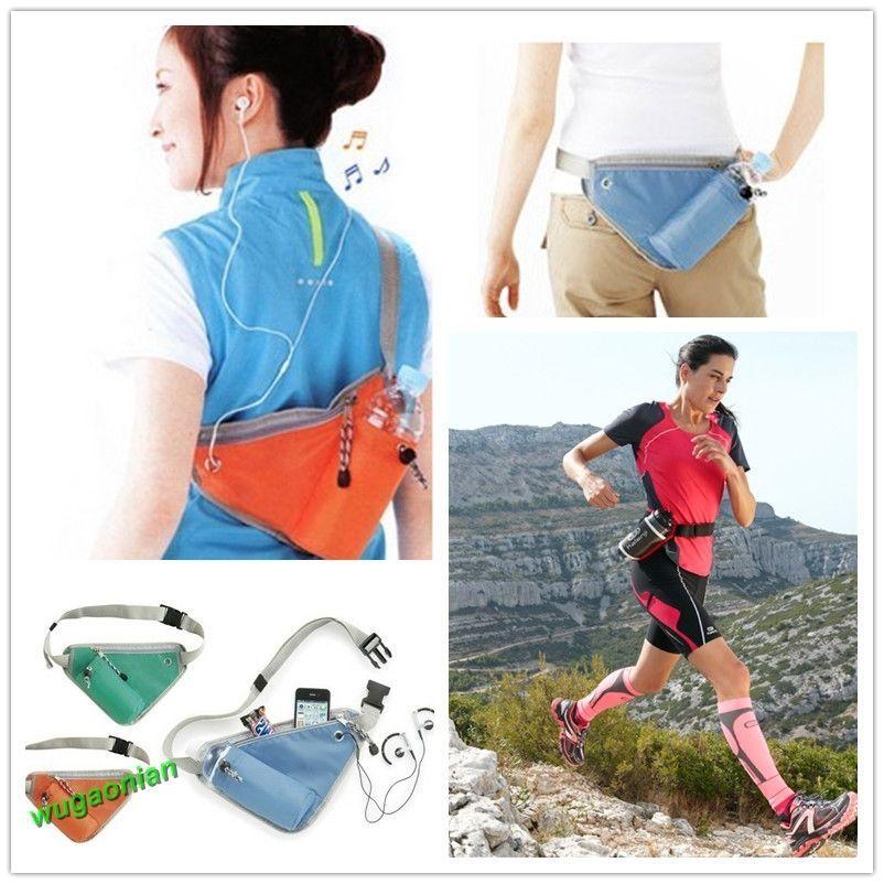Sport Belt Waist Pack Pouch Water Bottle Holder Bag For Cycling Running Jogging