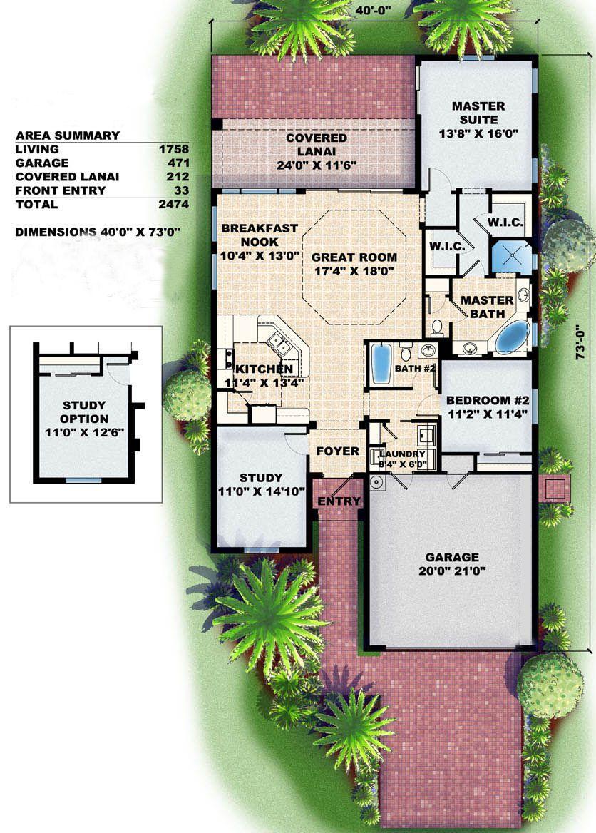 House Plan 1018 00005 Mediterranean Plan 1 758 Square Feet 2 Bedrooms 2 Bathrooms In 2021 Mediterranean Floor Plans Mediterranean House Plans How To Plan