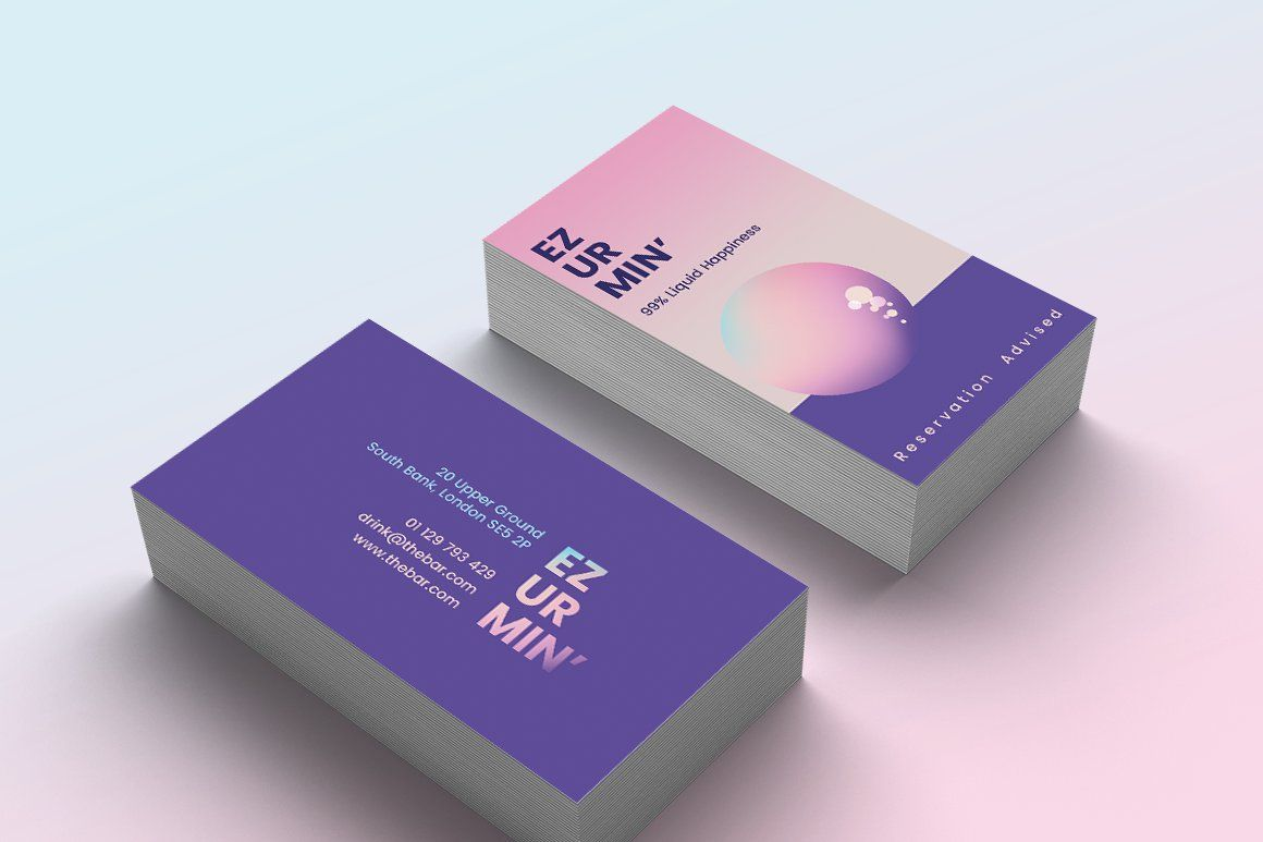 Cocktail Bar Business Card Template Quick Business Cards Business Card Template Card Template