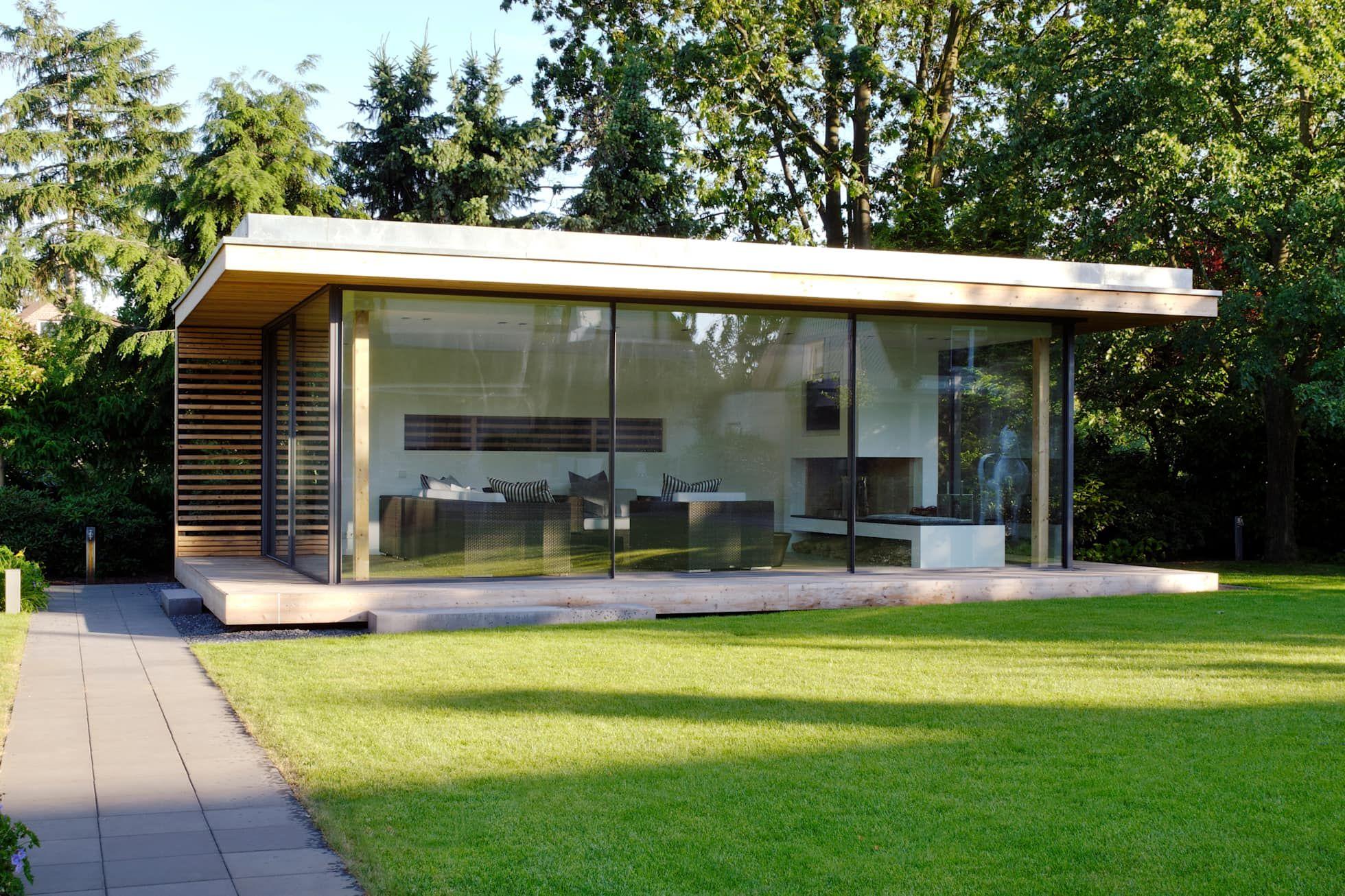 Moderner Gartenpavillion Im Nordlichen Ruhrgebiet Moderner Garten Von Homify Modern Homify Gartenpavillion Moderner Pavillon Garten Pavillon