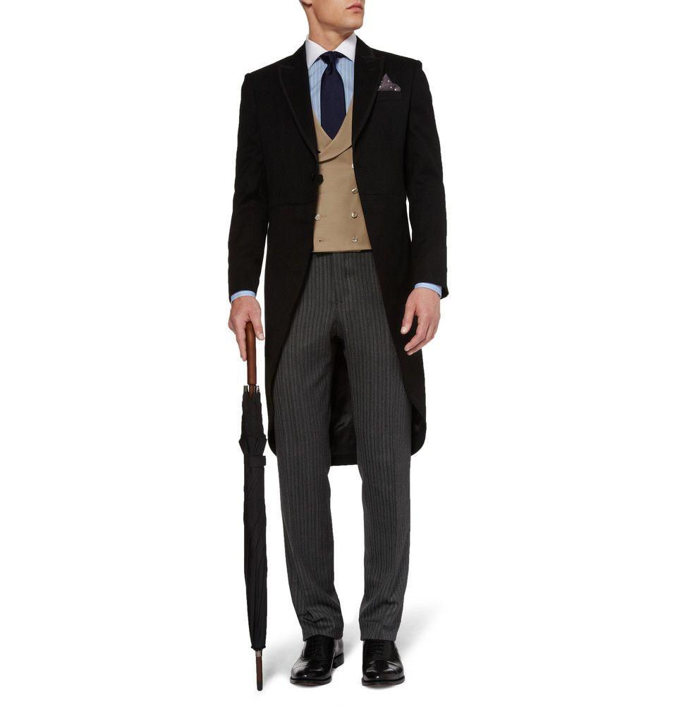 Favourbrook shawlcollar woolgabardine waistcoat threadstreads