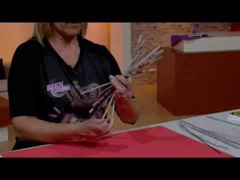 Silvina Buquete - Bienvenidas TV en HD - Crea un portavelas en cestería. - YouTube