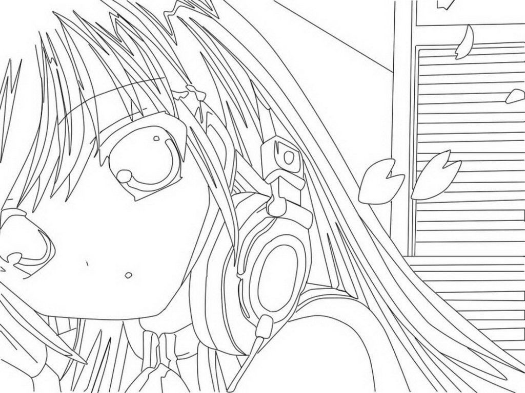 Anime Girls Coloring Pages ♥♥colour Me Crazy♥♥ Pinterest