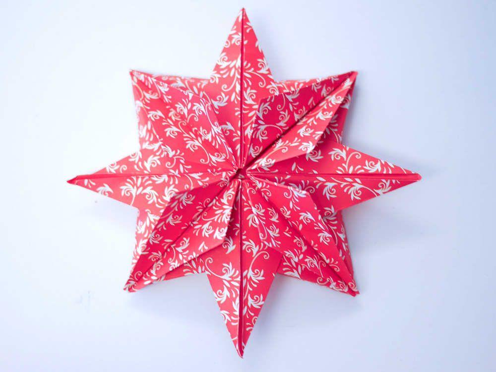 3dsterne falten  sterne basteln für weihnachten sterne