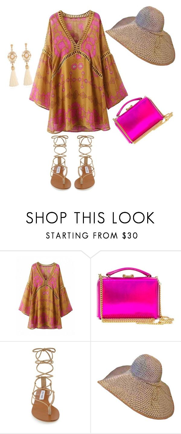 """""""Hello Summer"""" by grace098932 ❤ liked on Polyvore featuring Mark Cross and Steve Madden"""