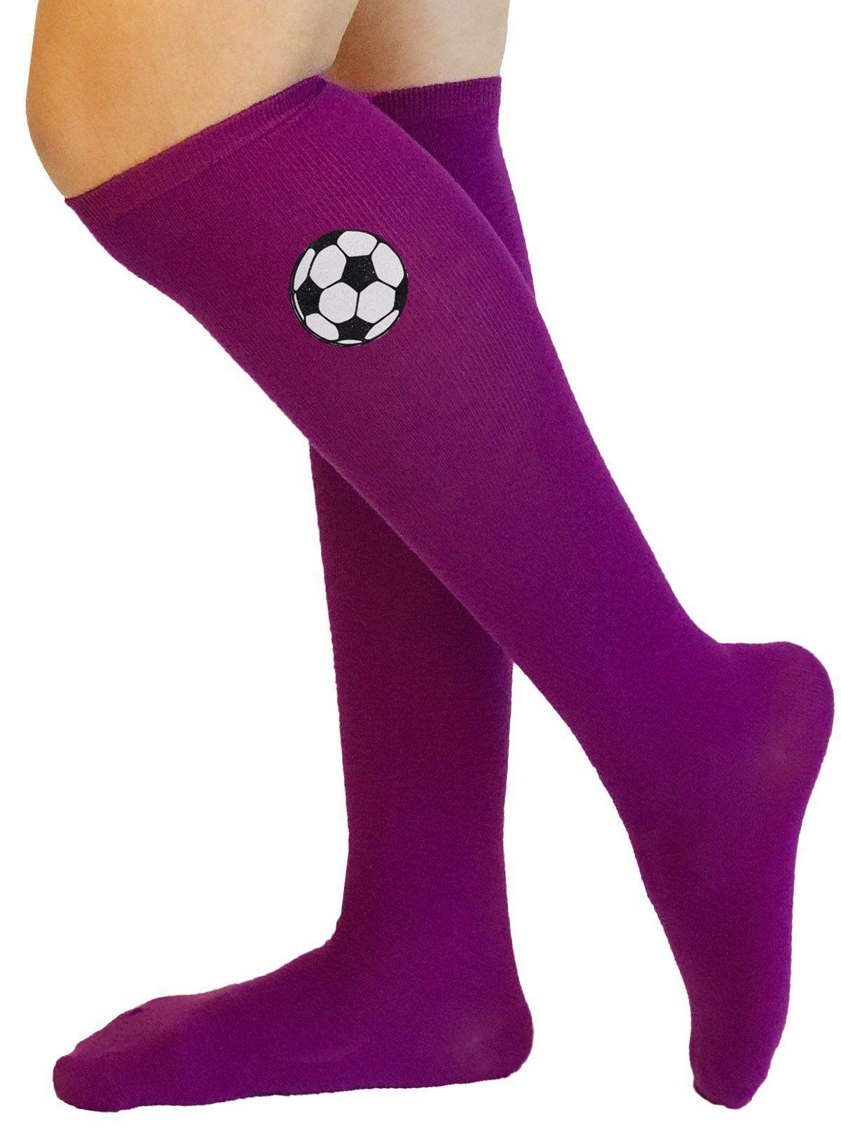 523ff24e98b5 Soccer Ball Purple Socks