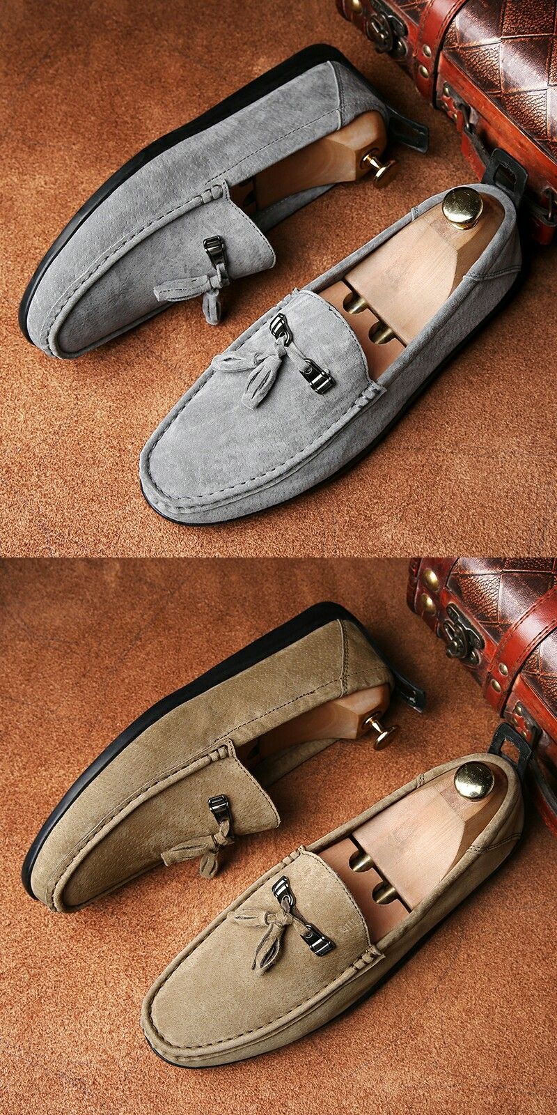 d72350d1309 US  26.7  Click to buy  Prelesty Vintage Delicate Italian Light Men Penny  Loafer Classic Elegant Formal Dress Shoe