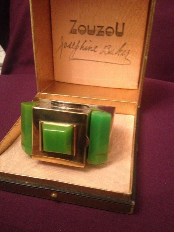 Art Deco Flamand Zouzou Bakelite Josephine Baker Bracelet Powder Compact