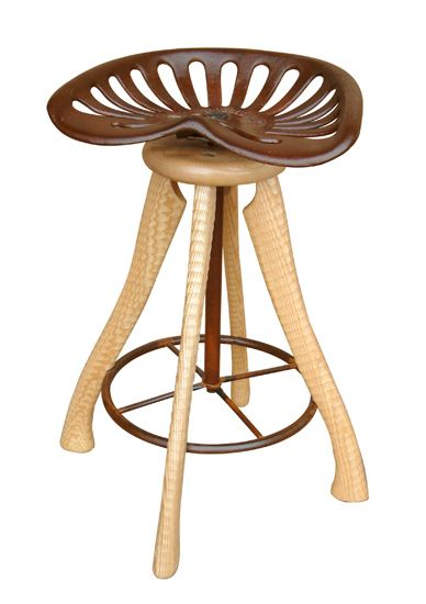 Tractor Seat Stool A Neat Idea Using Axe Handles And Some Acme Thread